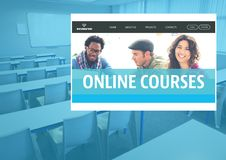 Online Courses App Interface royalty free stock photos