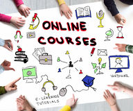 Online courses concept Royalty Free Stock Image