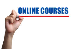 Online Courses Concept Stock Image
