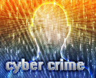 Online crime. Cyber crime online fraud identity theft illustration Stock Photo