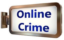Online Crime on billboard background. Online Crime wall light box billboard background , isolated on white Royalty Free Stock Images