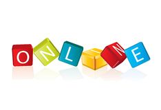 Online - cube letters Royalty Free Stock Image