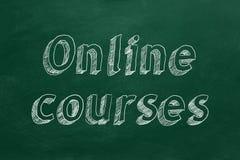 Online cursussen vector illustratie