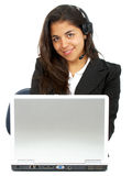 Online customer service representative Royalty Free Stock Images