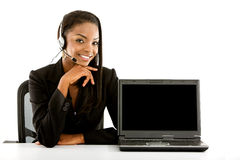 Online customer services representative Royalty Free Stock Photography