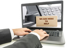 Online customer support Royalty Free Stock Photography