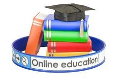 Online 3D onderwijsconcept, Stock Foto's