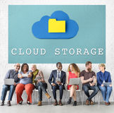 Online Data Cloud Storage Technology Concept. Online Data Cloud Storage Technology royalty free stock image