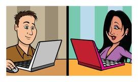 Online daterend Stock Foto's