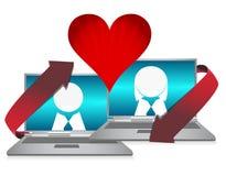 Online dating. Illustration concept over white Stock Photo