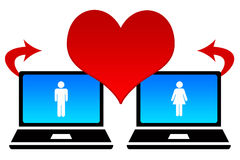 Online dating. Finding new love through internet dating Stock Image