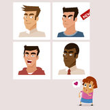 Online Dating. Girl on Online Dating. Vector illustration Royalty Free Stock Photography