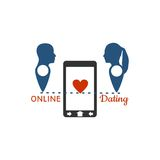 Online dating app concept Royalty Free Stock Image
