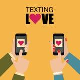Online dating application banner Stock Image