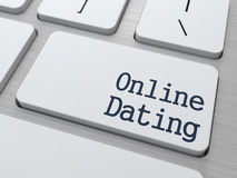 Online Dating Button on Computer Keyboard. Stock Images