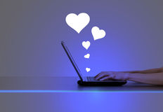 Online dating concept Royalty Free Stock Images