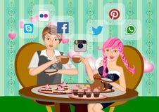 Online dating royalty free illustration