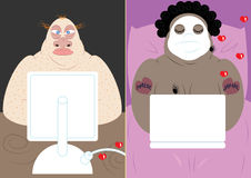 Online dating. The dangers of internet dating Royalty Free Stock Photo