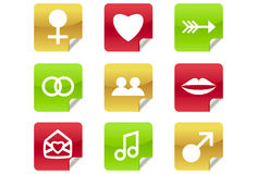 Online Dating Icons for Website / Blog Stock Images