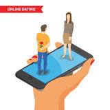 Online dating illustration Stock Image