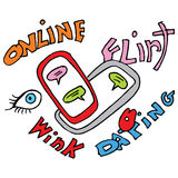 Online Dating. An image of an online dating cartoon Stock Photos