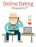 Online Dating infographics Stock Photos