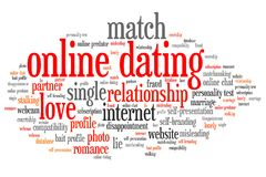 Online dating royalty free illustration