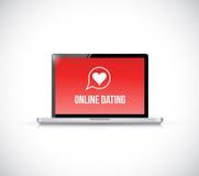 online dating. laptop computer illustration stock illustration