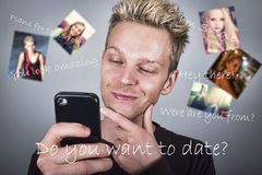 Online Dating Stock Photos
