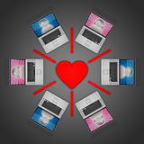 Online Dating Network Stock Image