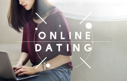 Online Dating Online Matching Relation Online Concept. People Using Online Dating Matching Relation Royalty Free Stock Photos