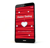 Online dating phone Stock Photography