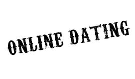 Online Dating rubber stamp Stock Photography
