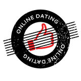 Online Dating rubber stamp Stock Images