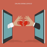 Online dating service vector concept. Stock Image