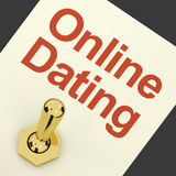 Online Dating Switch On Showing Romance And Love. Online Dating Switch On For Romance And Love Royalty Free Stock Photography