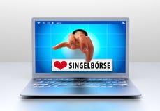 Online datowanie Zdjęcie Stock