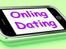 Online datowanie Na telefonów przedstawieniach Romancing I sieci miłości ilustracji