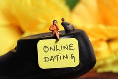 Online datowanie zdjęcia stock