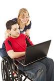 Online de Jonge geitjes van de school Stock Afbeeldingen