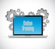 online de tekstteken van de opleidingscomputer Royalty-vrije Stock Afbeeldingen