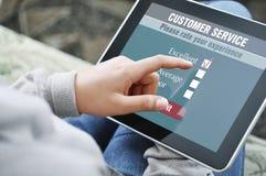 Online de tevredenheidsonderzoek van de klantendienst Stock Foto's