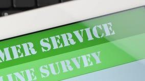 Online de tevredenheidsonderzoek van de klantendienst