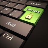 Online de veiligheid van de computer Stock Foto