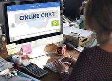 Online de Verbinding van het Praatjebericht het Spreken Concept Royalty-vrije Stock Afbeeldingen