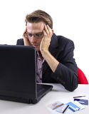 Online Debt Relief Royalty Free Stock Photography