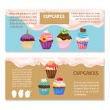 Online-design för shoppingmuffinreklamblad vektor illustrationer