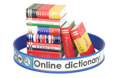 Online Dictionary concept, 3D rendering Royalty Free Stock Image