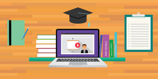 Online or digital learning. Education concept Royalty Free Stock Photography