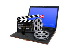 Online digital movie concept Royalty Free Stock Images